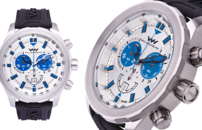 Stainless Steel / White Blue Dial