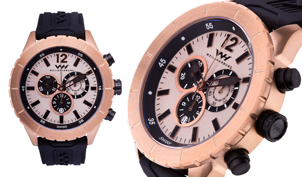 Rose Gold Case with Rose Gold Dial / Silicone Band
